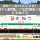 青梅市のおすすめ激安粗大ゴミ回収業者5選【全て即日対応!】