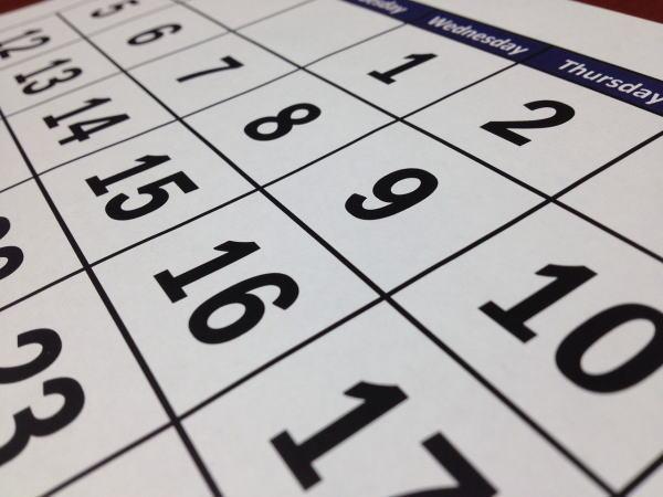 カレンダーとスケジュール